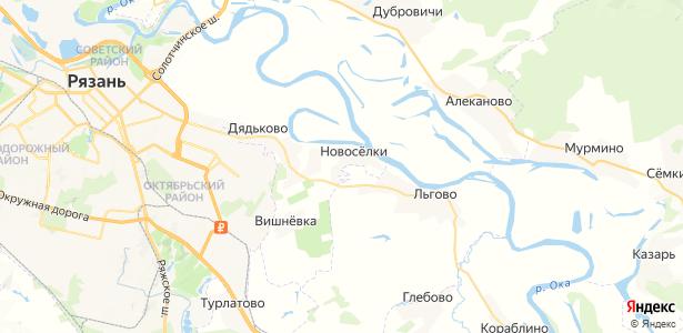 Новосёлки на карте