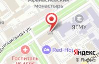 Схема проезда до компании 101 Шар в Ярославле