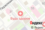 Схема проезда до компании Франчайзинг 5 в Вологде