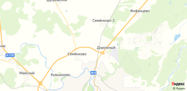 Цыпоглазово на карте
