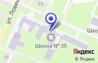 Схема проезда до компании МОУ ШКОЛА-ИНТЕРНАТ № 2 в Вологде