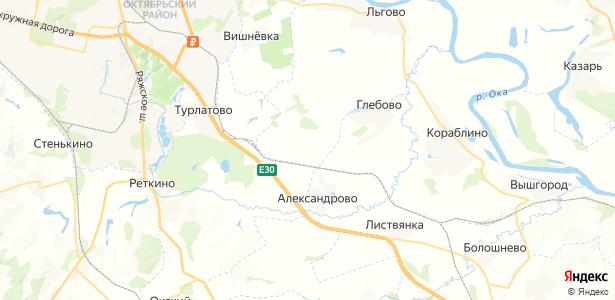 Зеленёво на карте