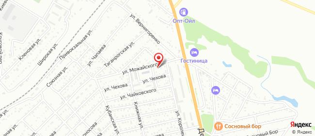 Карта расположения пункта доставки Пункт выдачи в городе Новошахтинск