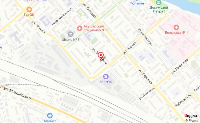 Карта расположения пункта доставки Пункт выдачи в городе Вологда