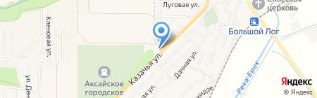 АЗС АНТ на карте Аксая