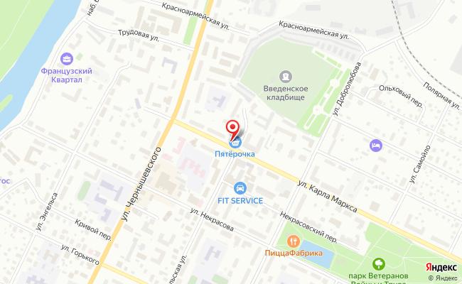 Карта расположения пункта доставки Халва в городе Вологда