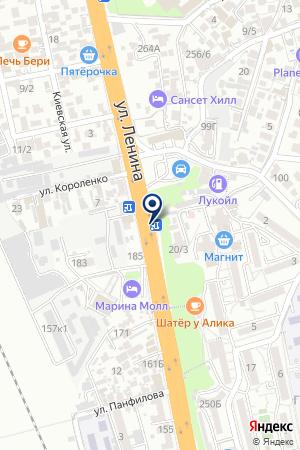 КАФЕ МИНУТКА на карте Сочи