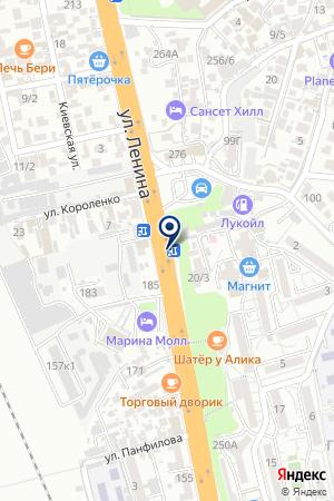 САНАТОРНО-КУРОРТНОЕ ОБЪЕДИНЕНИЕ АДЛЕРКУРОРТ на карте Сочи