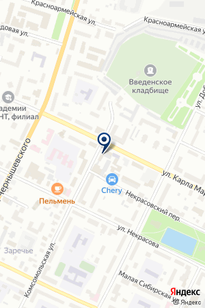 ФОРМАТ-АВТО на карте Вологды