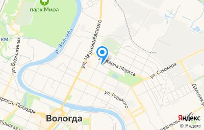 Местоположение на карте пункта техосмотра по адресу г Вологда, ул Карла Маркса, д 14
