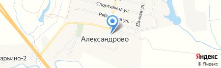 Александровский на карте Александрово