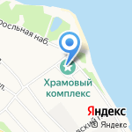 Колокольня церкви Иоанна Златоуста на карте Ярославля
