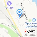 Глория на карте Ярославля