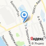 Тверицы на карте Ярославля