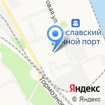 Кораблик на карте Ярославля