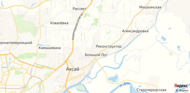 Большой Лог на карте