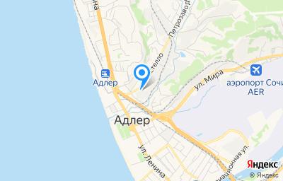 Местоположение на карте пункта техосмотра по адресу Краснодарский край, г Сочи, ул Кирпичная, д 24