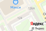 Схема проезда до компании Миратекс в Вологде