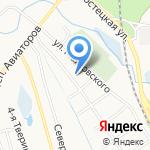 Заливная на карте Ярославля