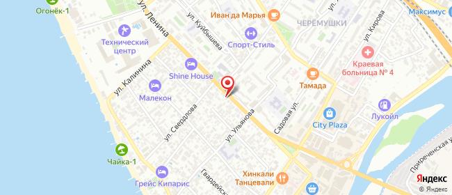 Карта расположения пункта доставки Сочи (Адлер) Ленина в городе Сочи
