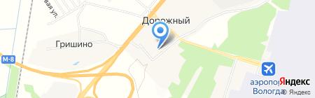 Дорожный детский сад №1 на карте Гришино