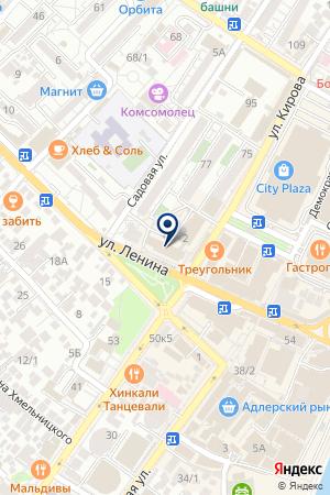 АЗС ЛАБА на карте Сочи