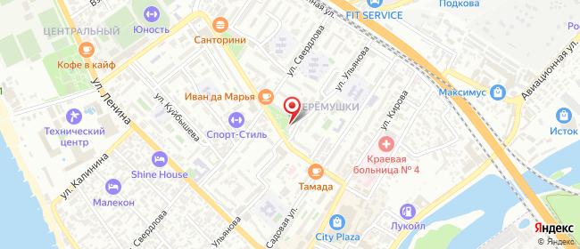 Карта расположения пункта доставки Сочи Молокова в городе Сочи