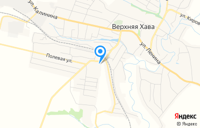 Местоположение на карте пункта техосмотра по адресу Воронежская обл, с Верхняя Хава, ул Железнодорожная, д 132А