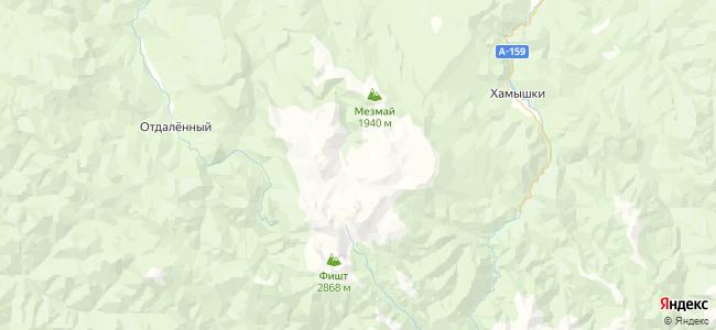 Гостиницы Лагонаки - объекты на карте