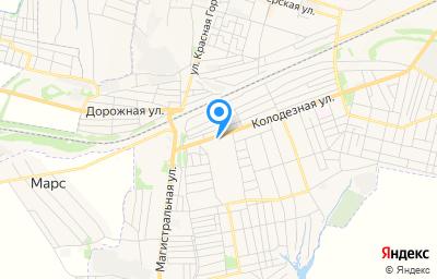 Местоположение на карте пункта техосмотра по адресу Ростовская обл, г Гуково, ул Колодезная, д 115А