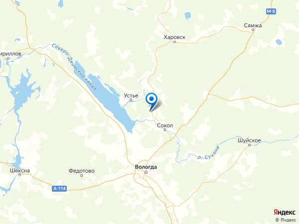 деревня Корякино на карте