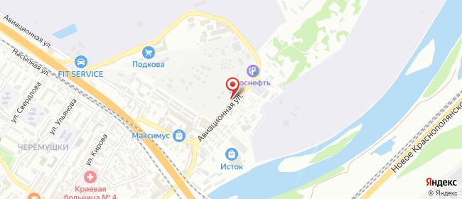 Карта расположения пункта доставки Сочи Авиационная в городе Сочи