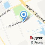 Коруна на карте Ярославля