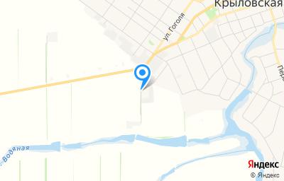 Местоположение на карте пункта техосмотра по адресу Краснодарский край, ст-ца Крыловская, ул Промышленная, д 9