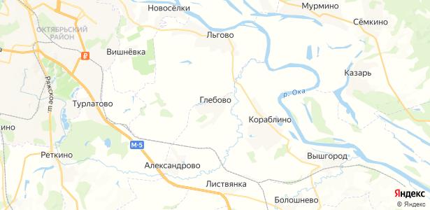Глебово на карте