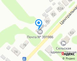 Схема местоположения почтового отделения 391986