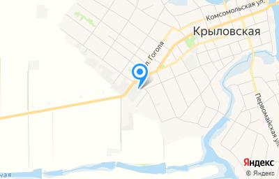 Местоположение на карте пункта техосмотра по адресу Краснодарский край, ст-ца Крыловская, ул Западная, д 3