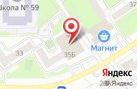 Схема проезда до компании Пегас в Ярославле