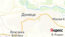 Отели города Донецк на карте