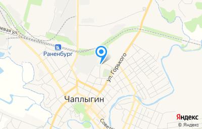 Местоположение на карте пункта техосмотра по адресу Липецкая обл, г Чаплыгин, ул Пушкина, д 20