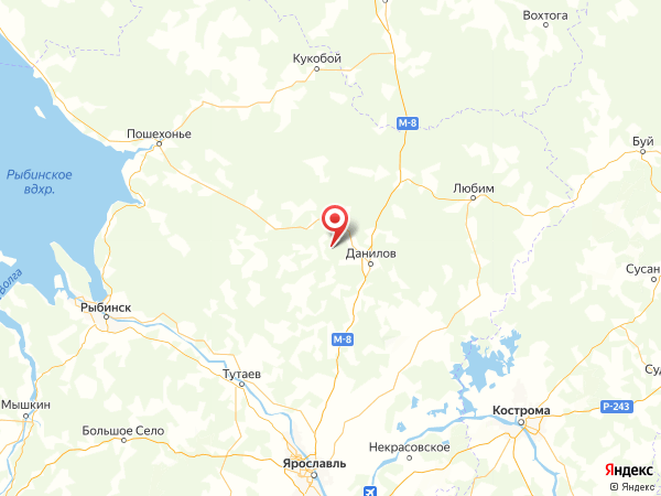деревня Шуклино на карте