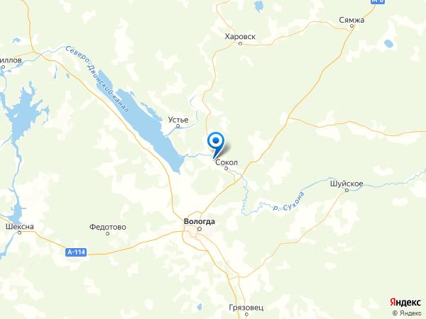 деревня Перевоз на карте