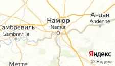 Отели города Намюр на карте
