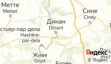 Отели города Динан на карте