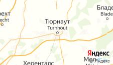 Отели города Тюрнхаут на карте