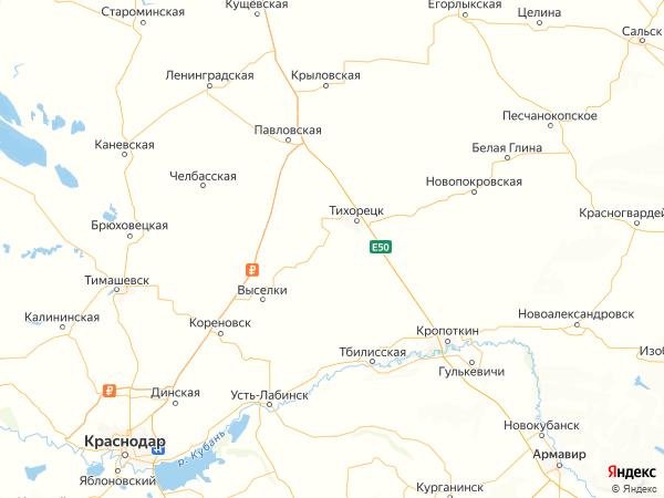 поселок Советский на карте