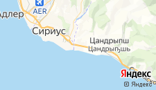 Отели города Леселидзе на карте