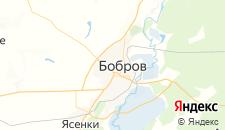 Отели города Бобров на карте