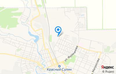 Местоположение на карте пункта техосмотра по адресу Ростовская обл, г Красный Сулин, ул Автомобилистов