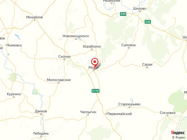 Ряжск на карте